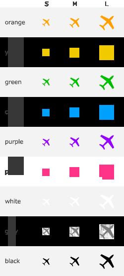色サイズコード | 初期費用無料ホームページ作成サイト - FunMaker
