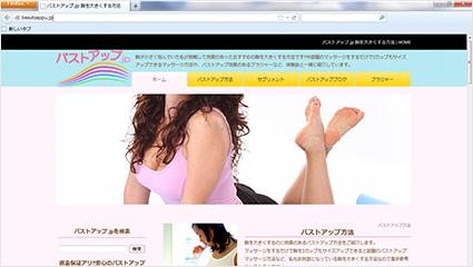 アフィリエイトサイト バストアップ.jp制作実績 | 初期費用無料ホームページ作成サイト - FunMaker[ファンメイカー]