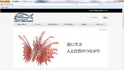 学校ホームページ 京都大学舞鶴水産実験所 | 初期費用無料ホームページ作成サイト - FunMaker[ファンメイカー]